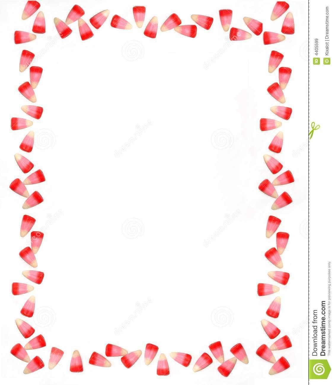 Valentine Candy Border Clipart