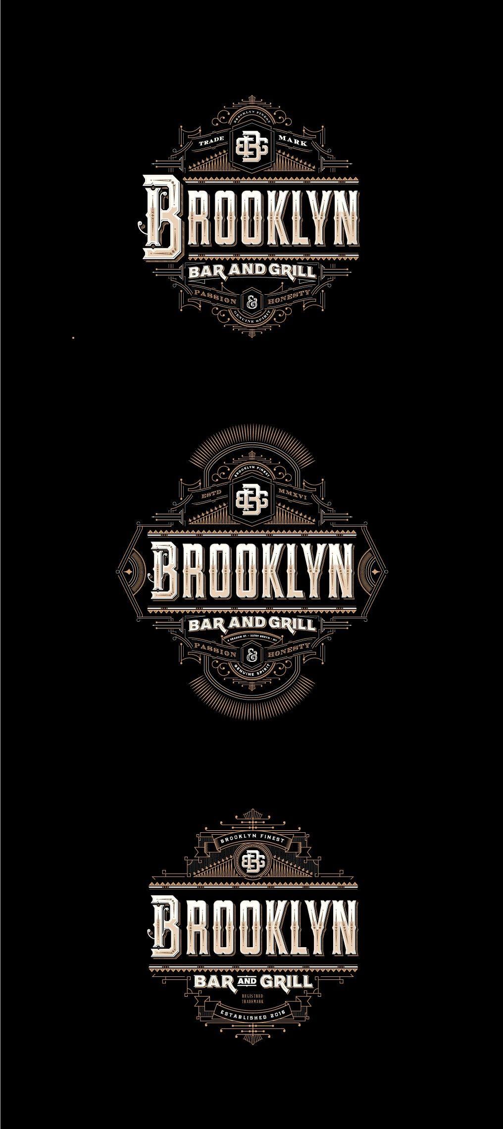 Brooklyn bar and grill logo 99designs