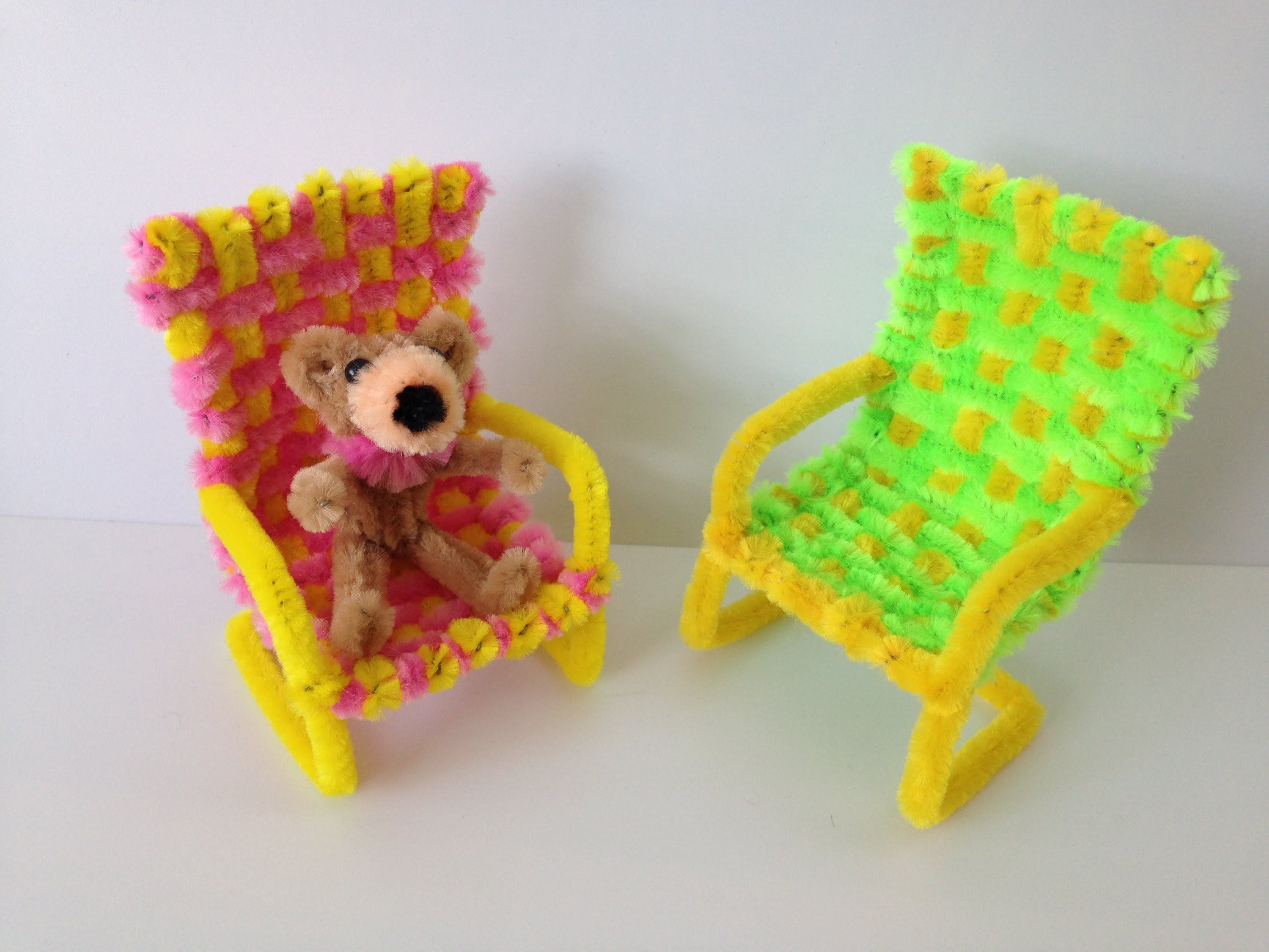 Pipe cleaners for crafts - How To Make A Pipe Cleaner Chair 36