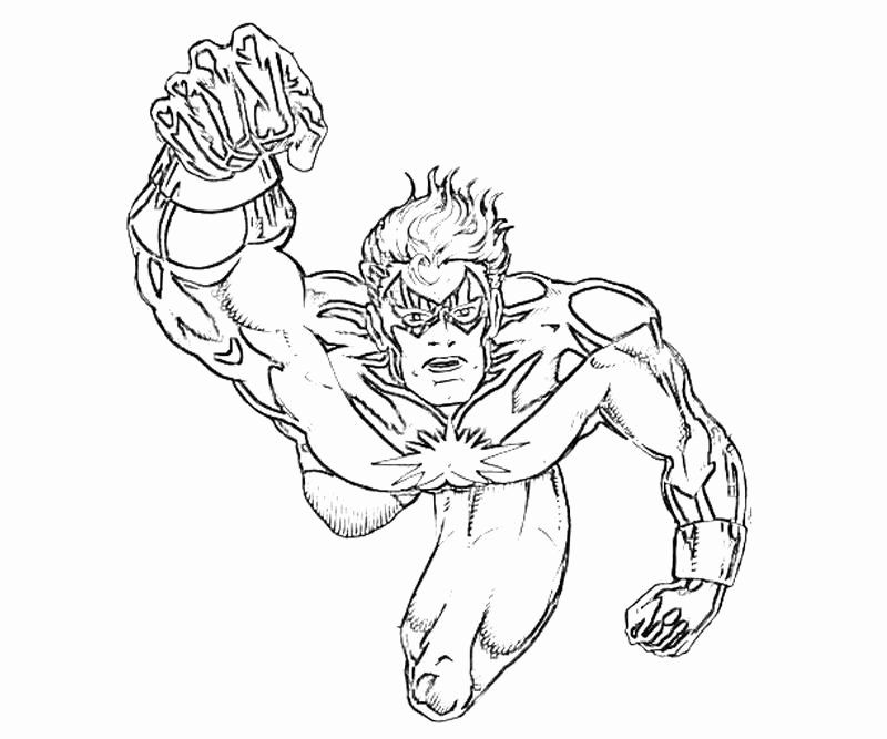 Captain Marvel Coloring Page Awesome Dc Universe Captain ...
