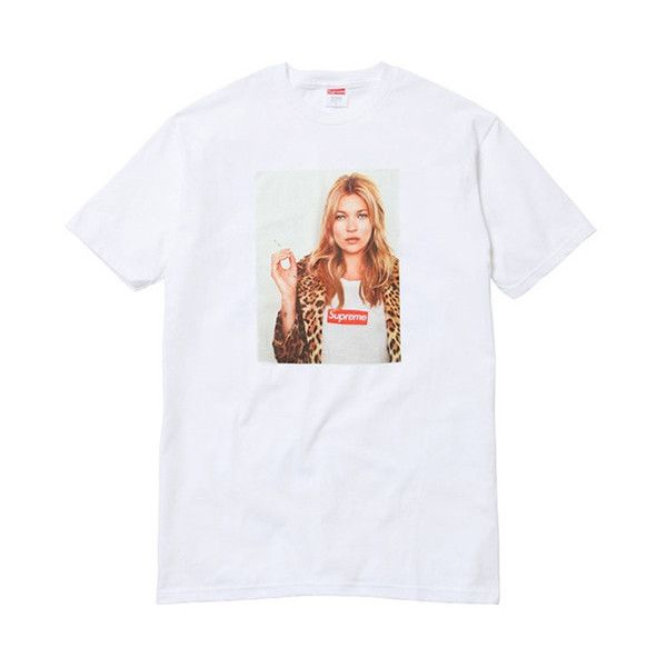 6c09981cb Supreme Kate Moss T-Shirt White ❤ liked on Polyvore featuring tops, t-shirts,  t shirt, cotton t shirts, white cotton tops, white cotton shirt and cotton  ...