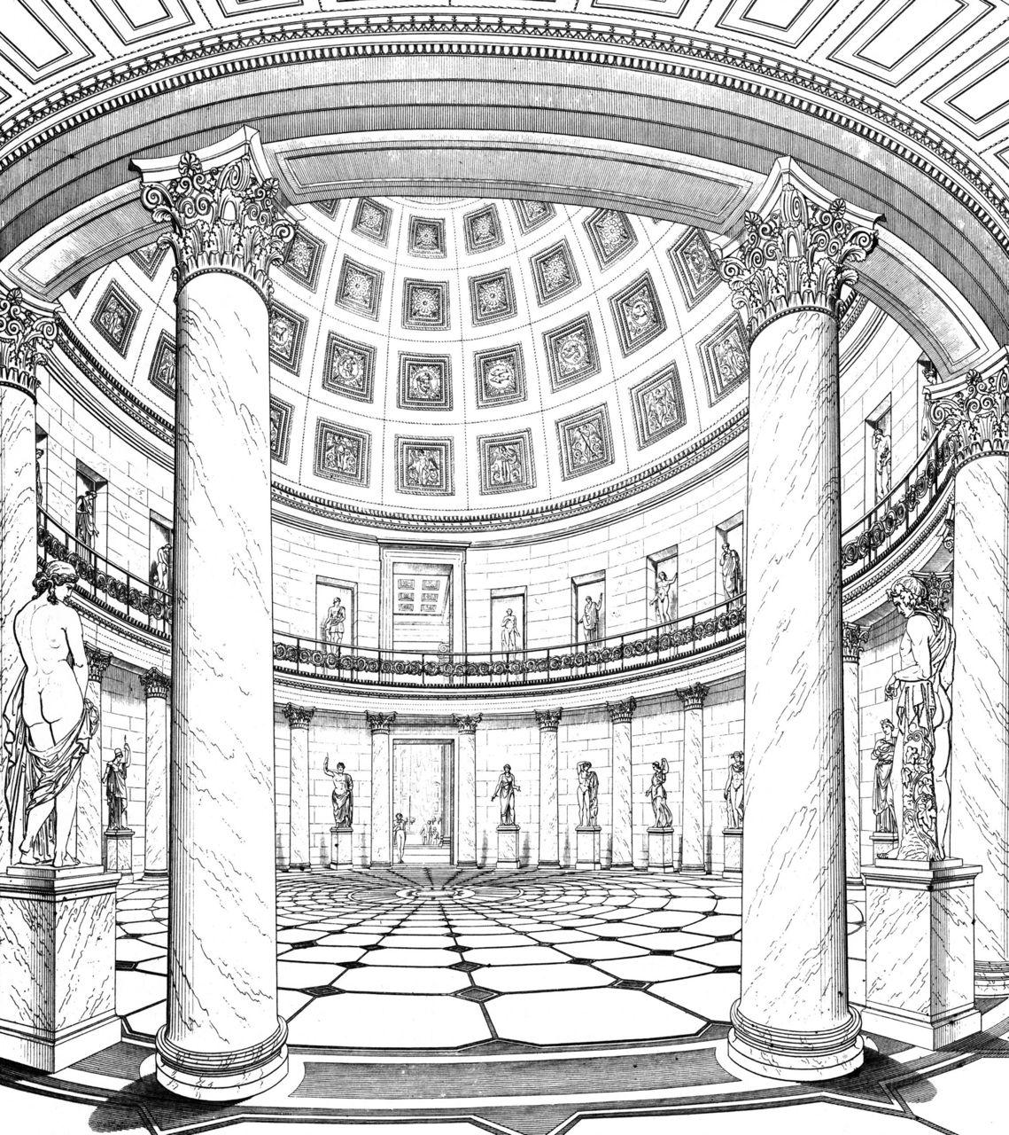 Altes museum karl friedrich schinkel berlin germany 1830 for Interior architecture berlin