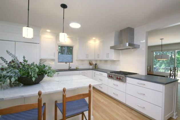 Transitional Kitchen White Cabinets Kabinart Design By Deb Bayless