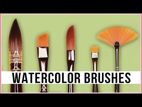 150 confused different types of watercolor brushes
