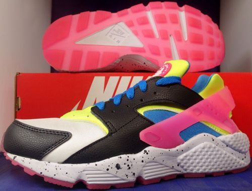 2bcba42b482d Womens Nike Air Huarache iD White Black Blue Pink SZ 9.5   Mens 8 ( 777330- 994 )