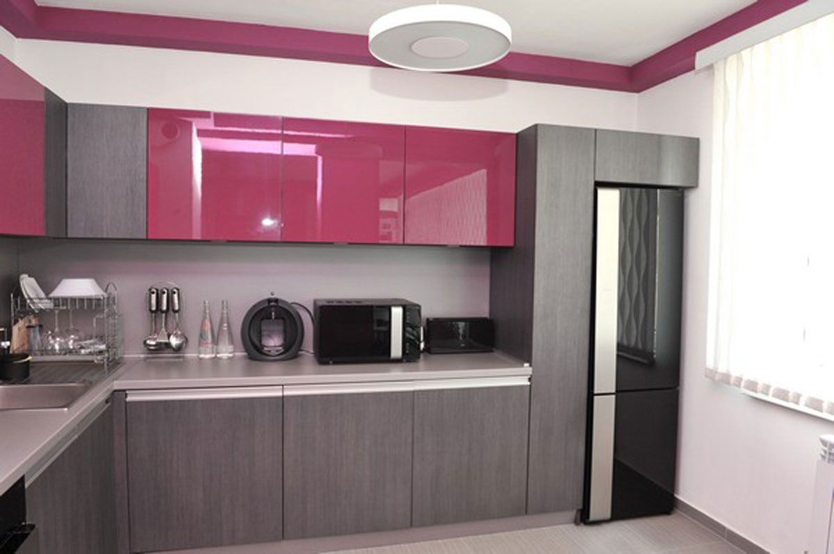 purple kitchen apartment. Choosing Right Furniture in Kitchen Ideas for Small  Beautiful Apartment Design