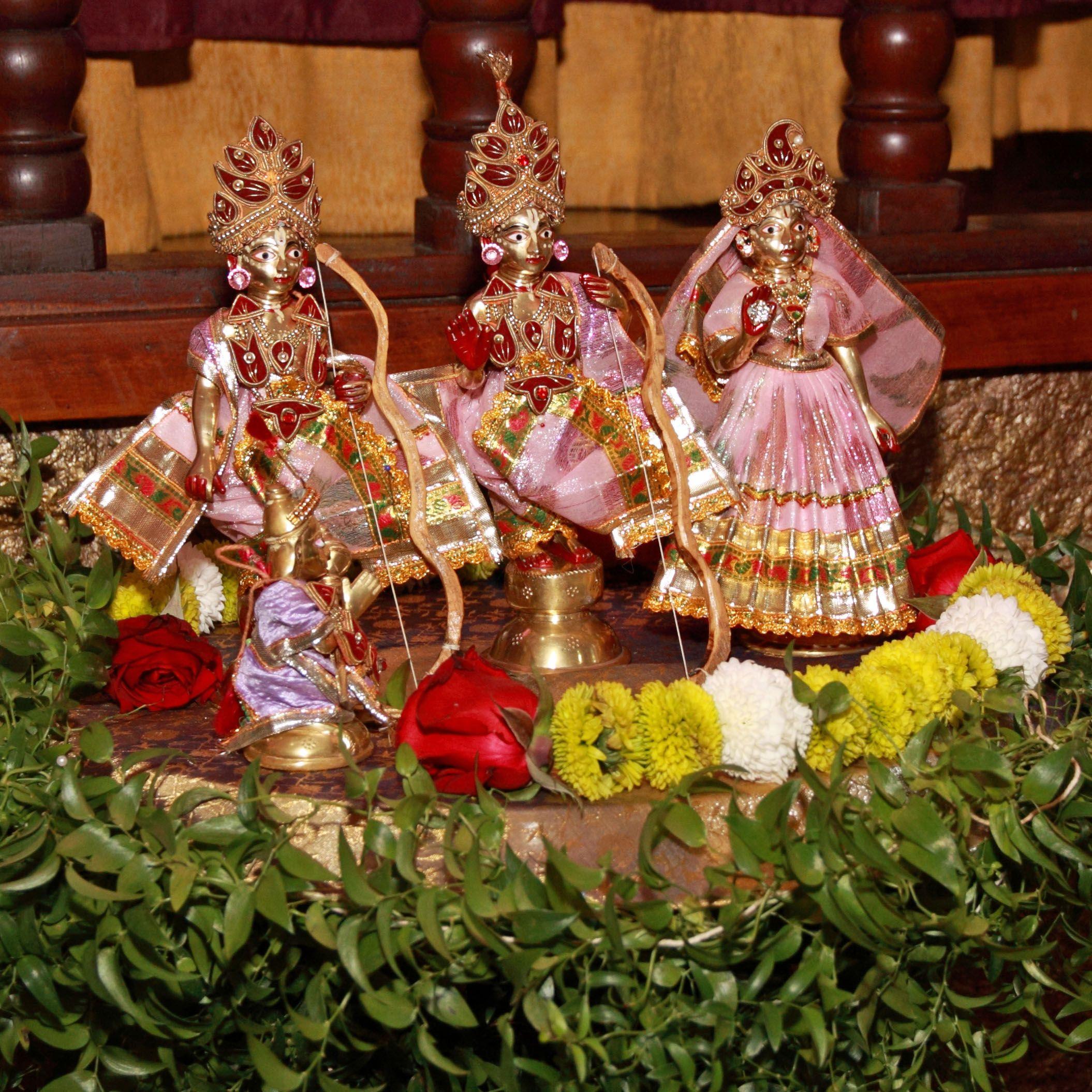 Templo Hare Krishna Iskcon no Itanhangá. Rama Navami, um festival de celebração do nascimento do Senhor Ramachandra de Ayodhya . Ramachandra é a sétima encarnação do Dashavatara de Vishnu.