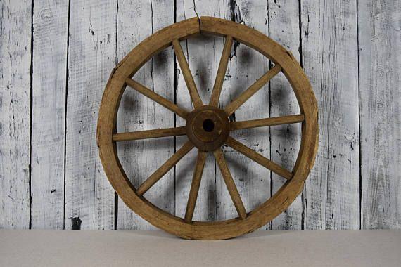Antique Wheel Wooden Wheel Spinning Wheel Piece