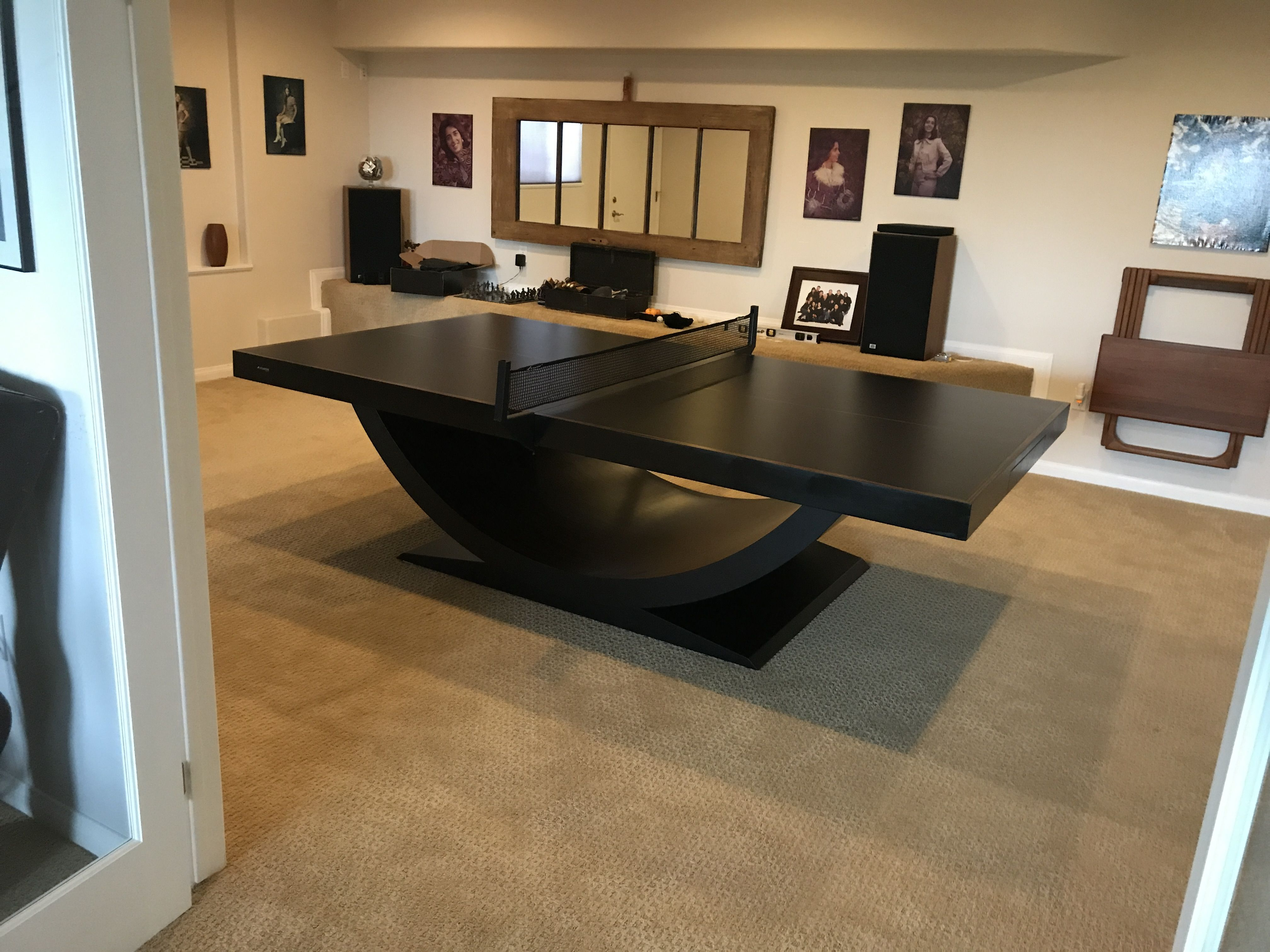 Allblackeverything For This Client S 11 Ravens Theseus Is The Essence Of Cool Pingpong Modern Pool Table Luxury Table Modern Pools