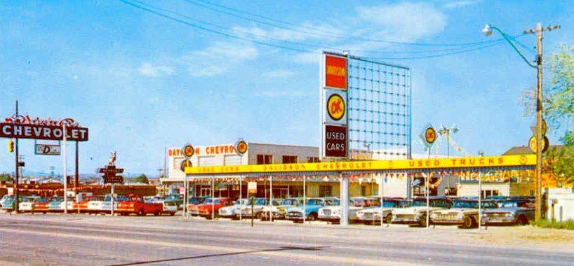 Vintage Ok Used Car Lot Chevrolet Dealership Car Memorabilia