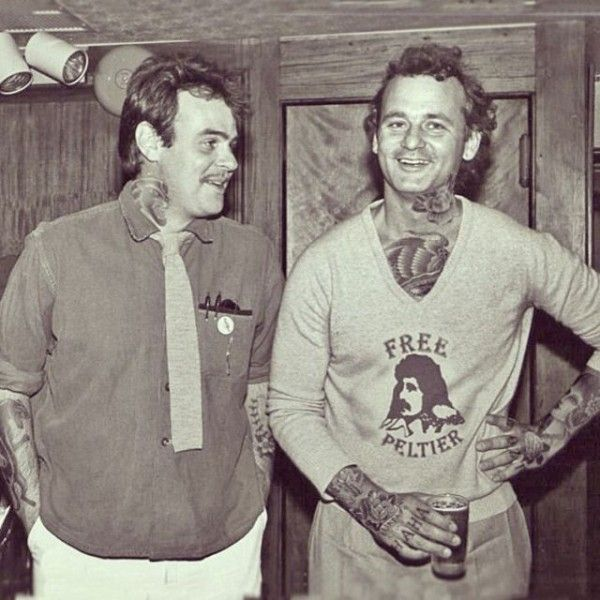 Two Of The Best Bill Murray And Dan Akroyd By Seattlebased - Artist reimagines celebrities covered in tattoos