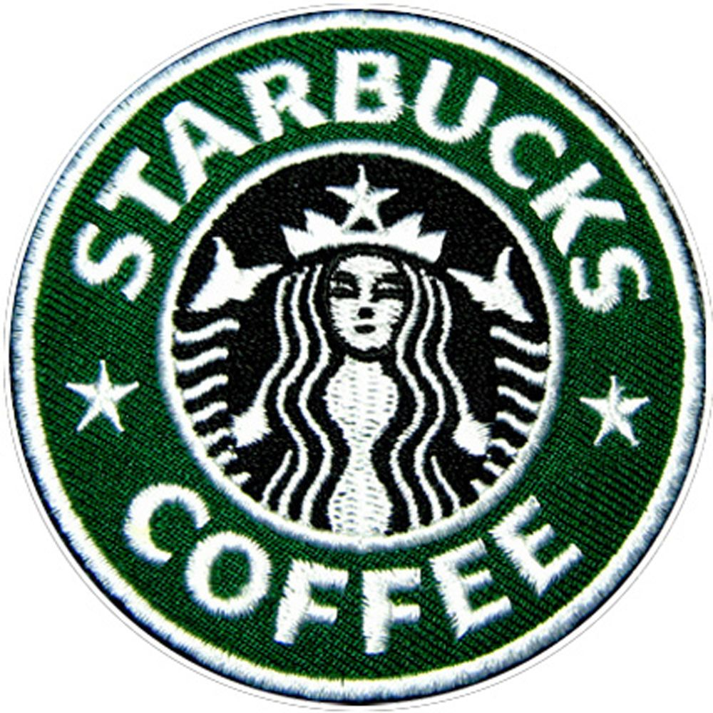 Details about Starbucks logo Embroidered Iron on Patch