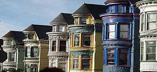 Las Famosas Damas Pintadas O Painted Ladies De San Francisco Una Fila De Casas Victorianas Alineadas Entre Los Números 710 Casas Victorianas Victoriano Casas