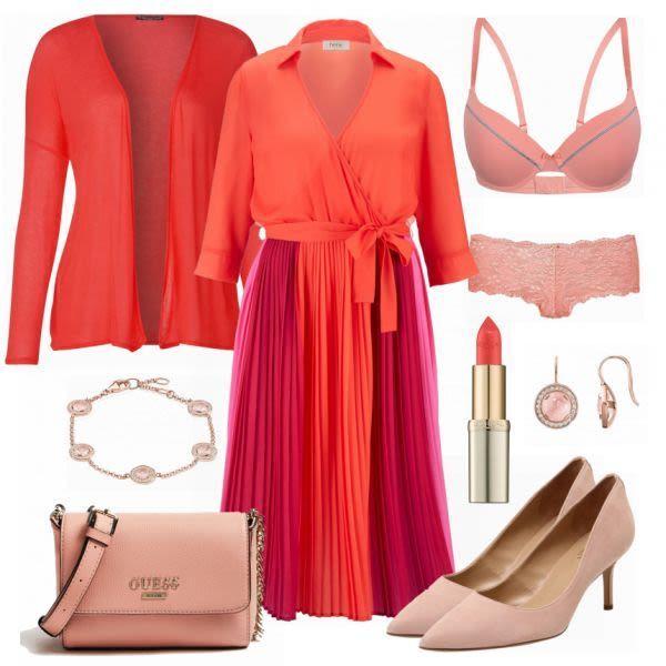 Rood roze combinatie