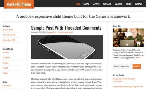 Beautiful Mobile Responsive Themes for Wordpress