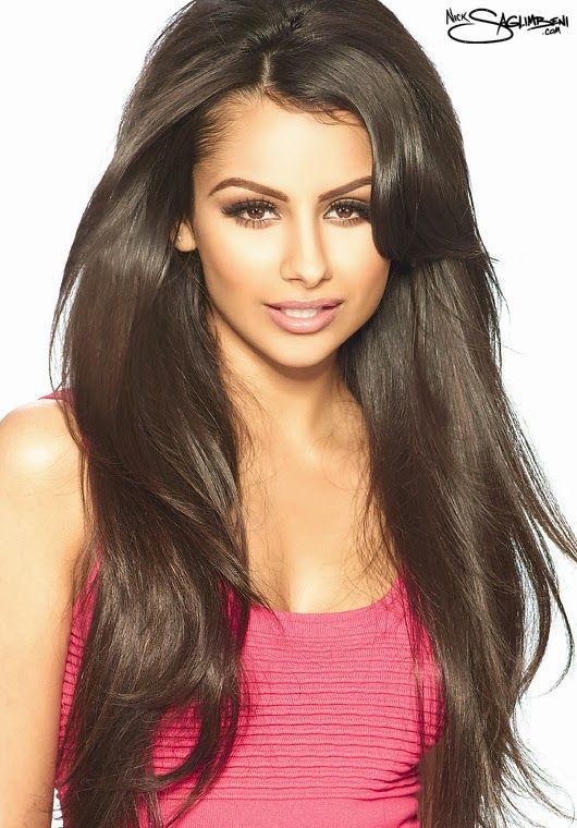 nazanin mandi carmel blonde highlights long hair