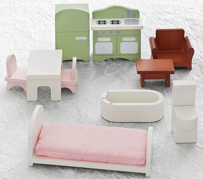 my first dollhouse, furniture starter set | dollhouse furniture