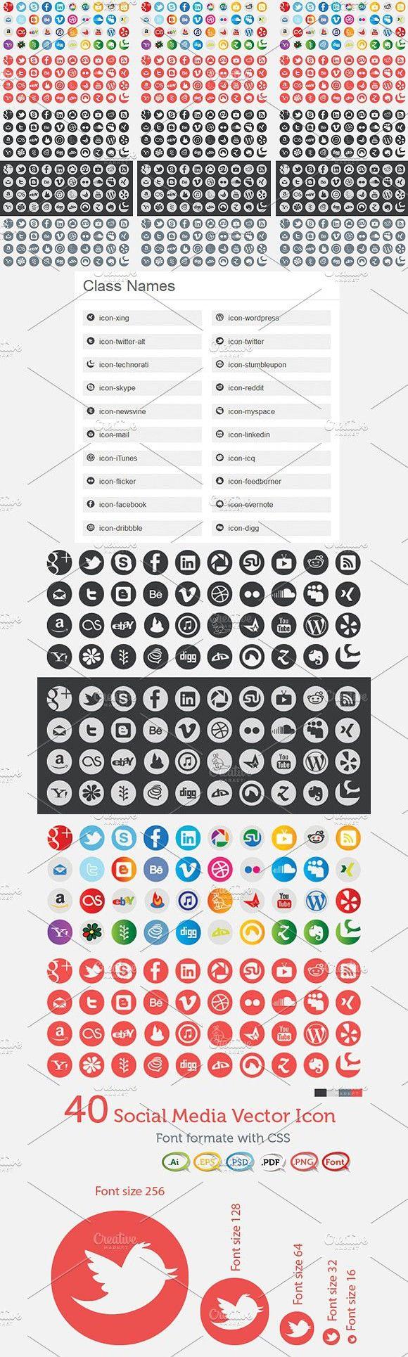 Social Icons Social icons, Icon, Social