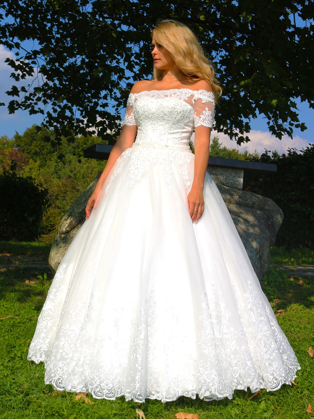 Luxus Brautkleid Hochzeitskleid NEU Braut Spitze Brautkleider Maß ...