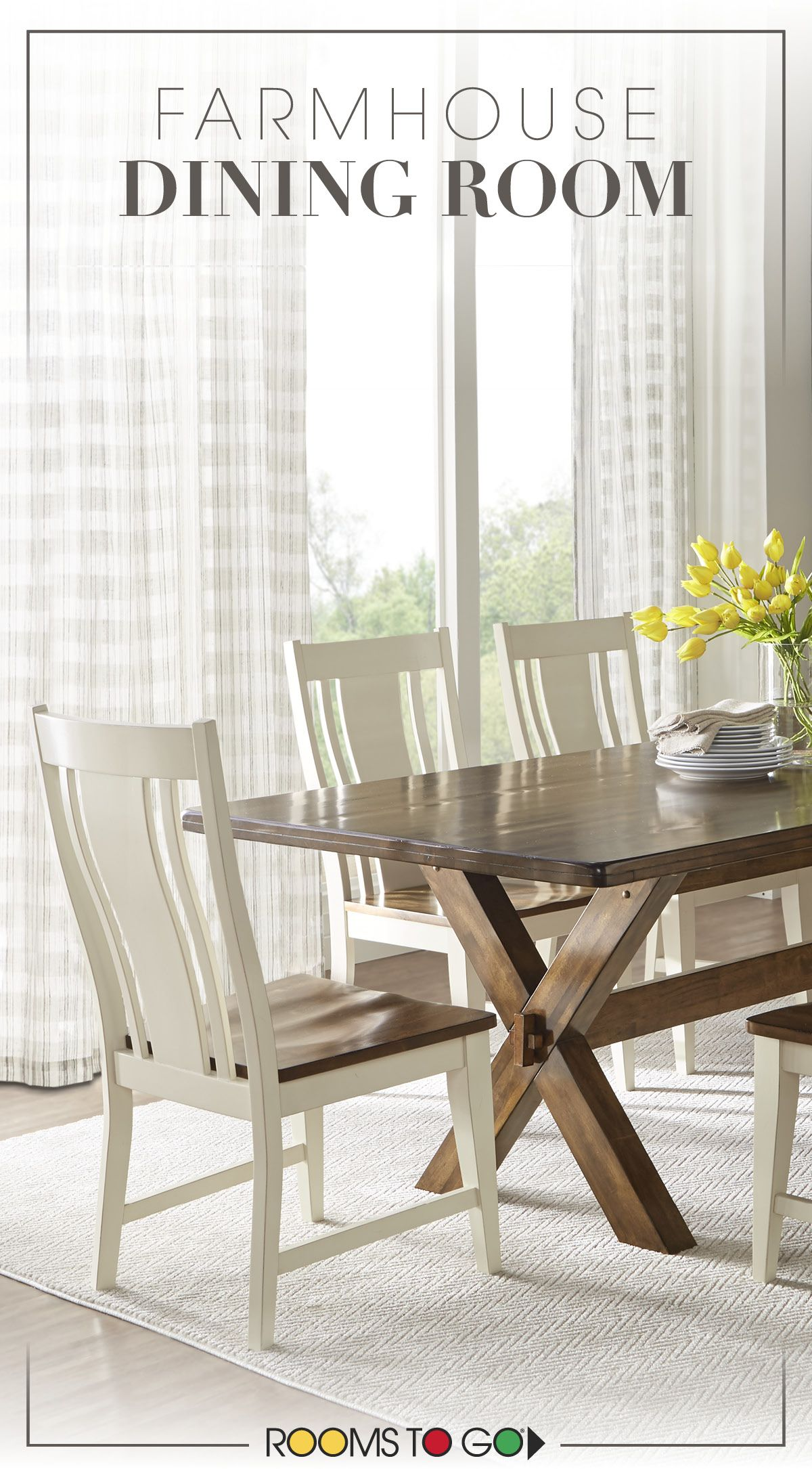 A Farmhouse Style Sets The Tone For The Twin Lakes Dining Room Whether You Re Sitting Down F Casual Dining Rooms Farmhouse Dining Room Dining Room Table Decor