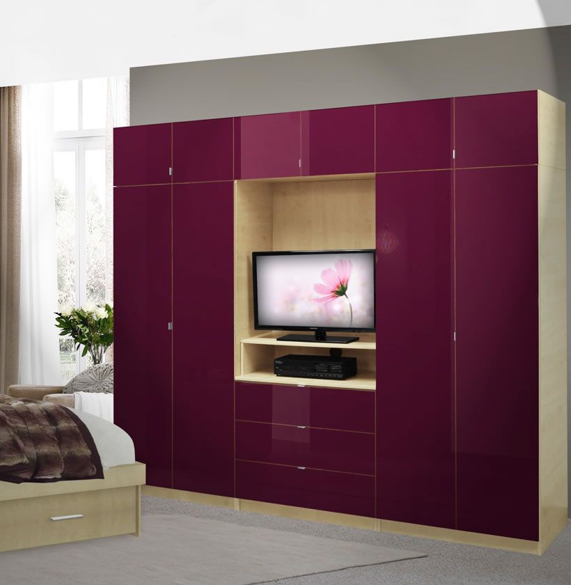 Aventa Bedroom Wall Unit X Tall   TV Wall Unit W Extra Bedroom Storage