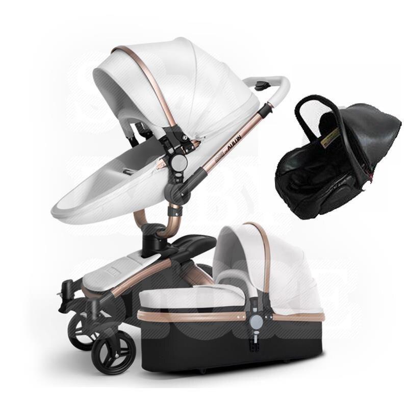 Cochecito de bebé 2 en 1 de paisaje alto, carrito para