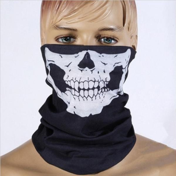 Hot Sale Men\u0027s Skull Pattern Halloween Decoration Scarf Scarves