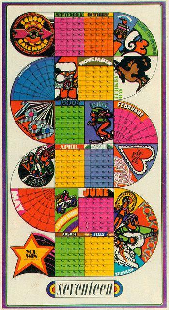 1969 Calendar Solo Vintage Retro Art Psychedelic Art