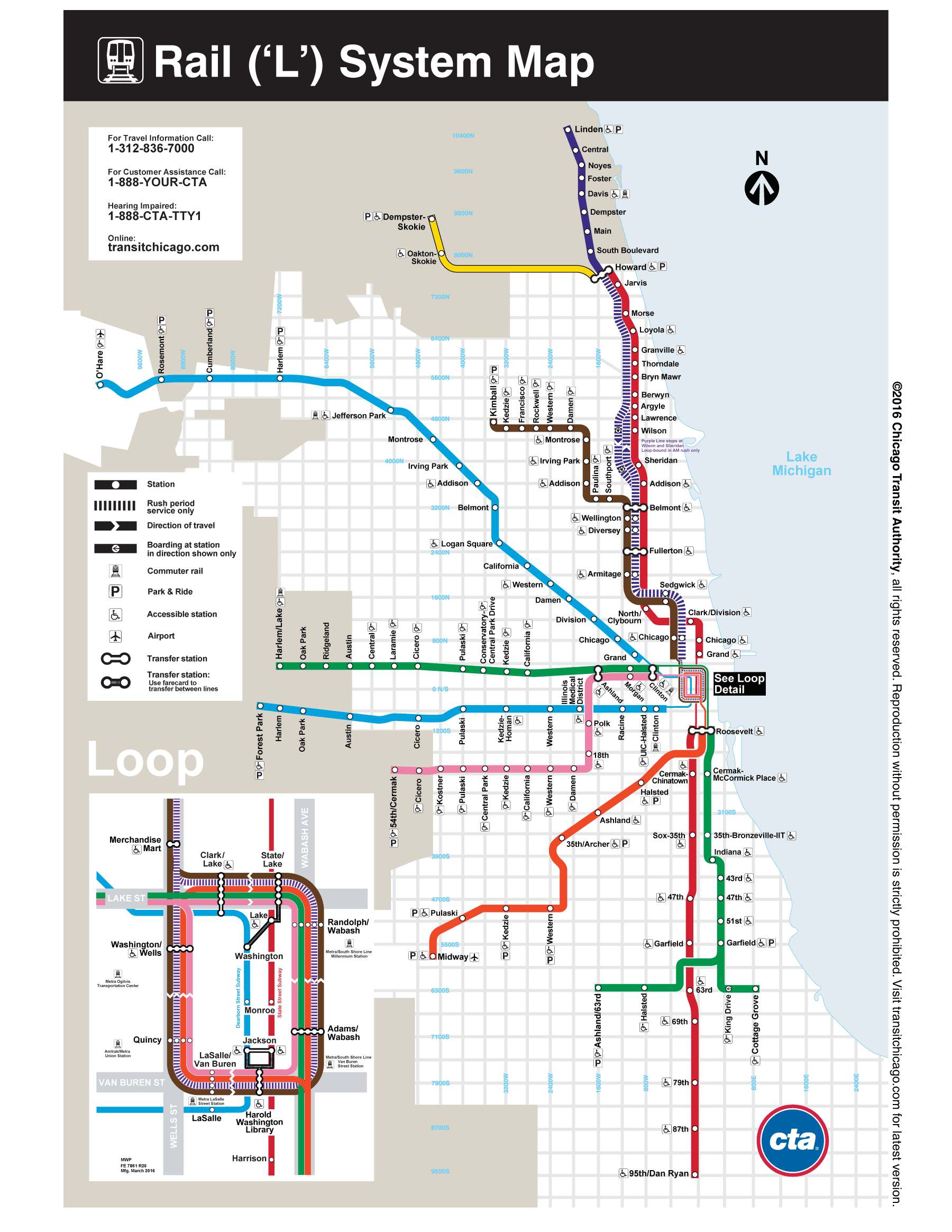 Online Version L Map Of Chicago Maps Pinterest Chicago