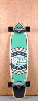 "Stella Prebuilt 38"" Kicktail Shield Green Longboard Complete Bottom"