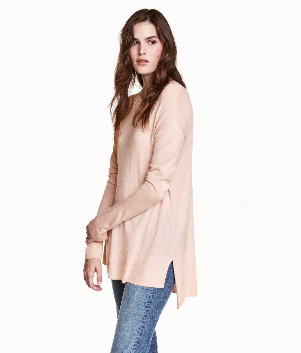 Feinstrick-Pullover | Puder | Ladies | H&M DE