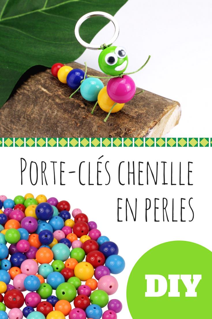 Fabriquer Porte Clé Facile porte-clé chenille en perles - activités enfantines | porte