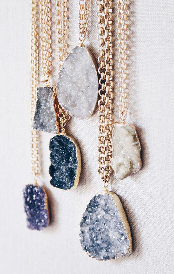 Photo of druzy necklaces