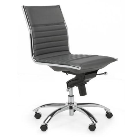 Malcolm Armless Chair Grey From Z Gallerie 240 Affordable