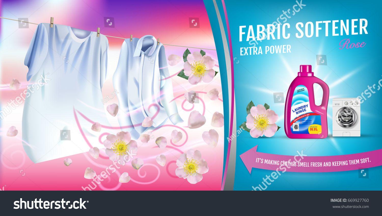 Rose Fragrance Fabric Softener Gel Ads Stock Vector Royalty Free