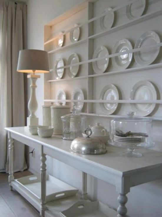 Shallow Plate Storage For A Big Statement Wall Same Idea