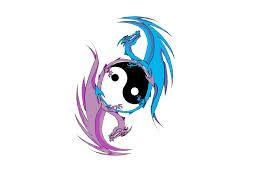 tribal dragon yin yang tattoos - Google Search   tattoos ...