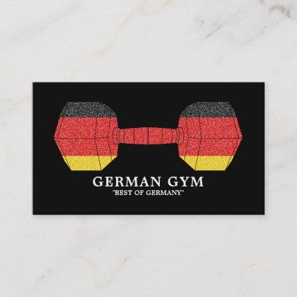 German Dumbbell Weight Fitness Instructor Gym Business Card