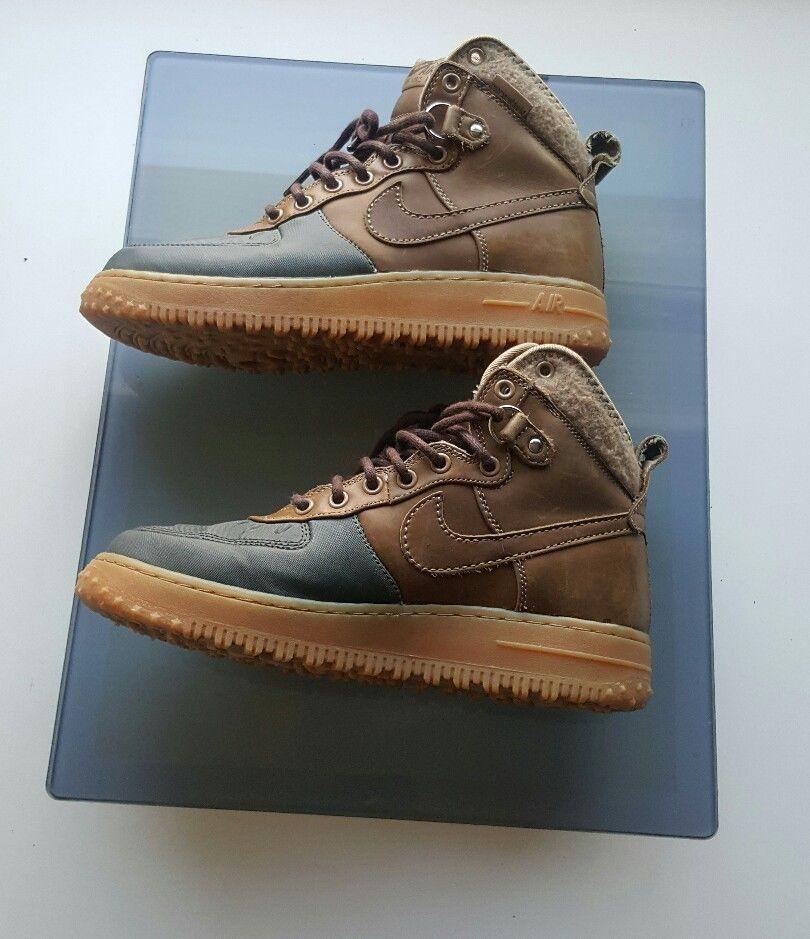 best loved b0ee6 beed5 Nike Air Force 1 Duckboot 444745-201 Beach Tree Dark Army Light Gum Brown  sz8.5  Nike  AthleticSneakers