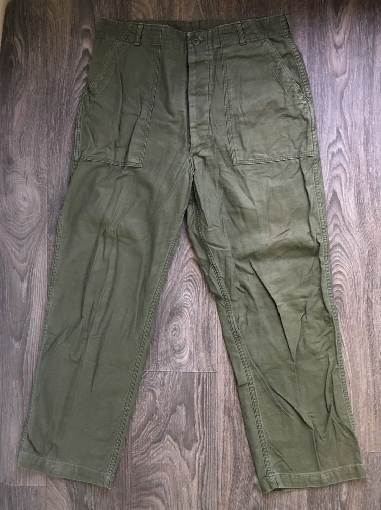 Vintage Vietnam Army shorts 27 W ~ unisex Cotton Sateen