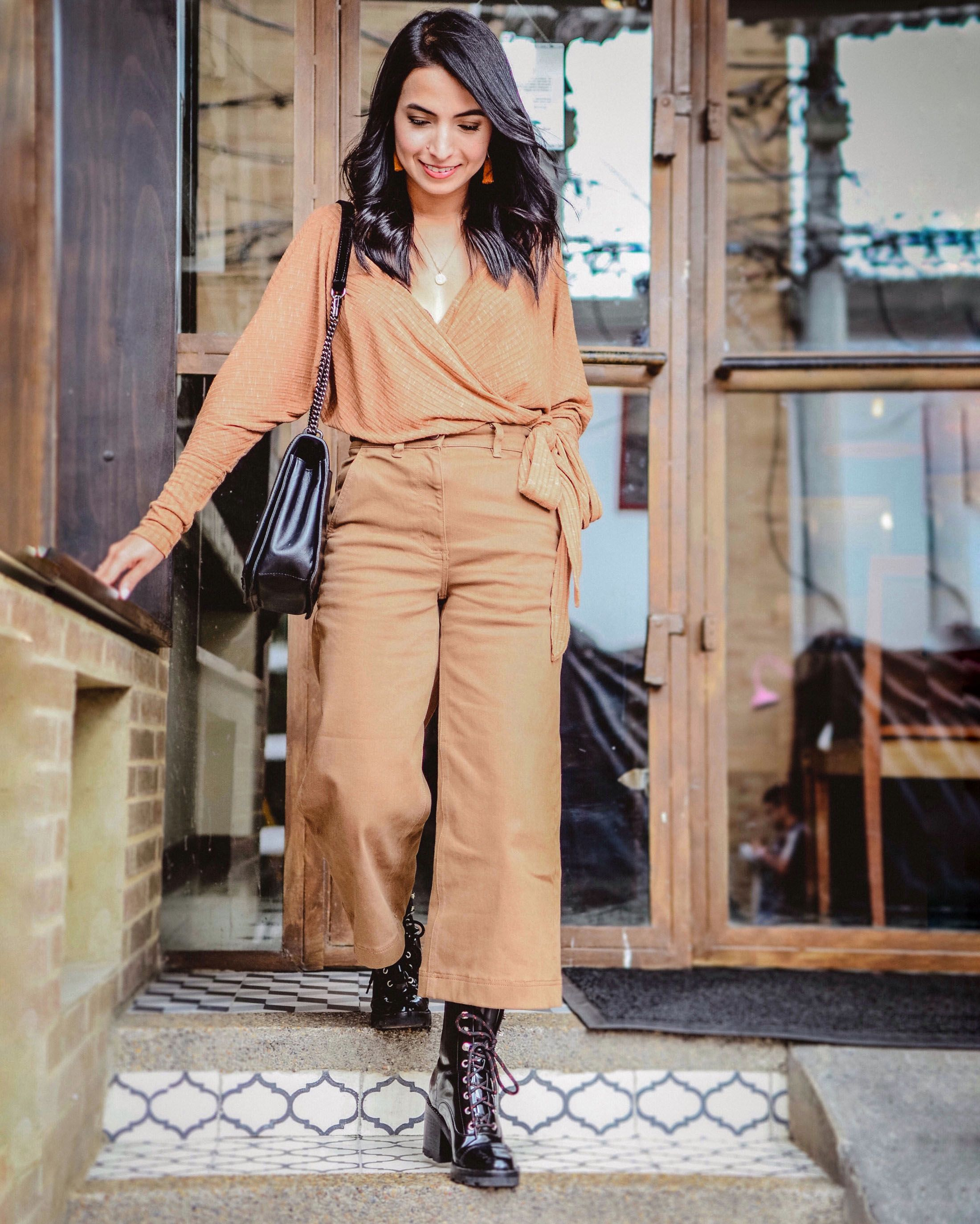 12 Ways To Wear Combat Boots You Ll Fall In Love The Mom Edit Wide Leg Cropped Pants Fashion Wide Leg Pants