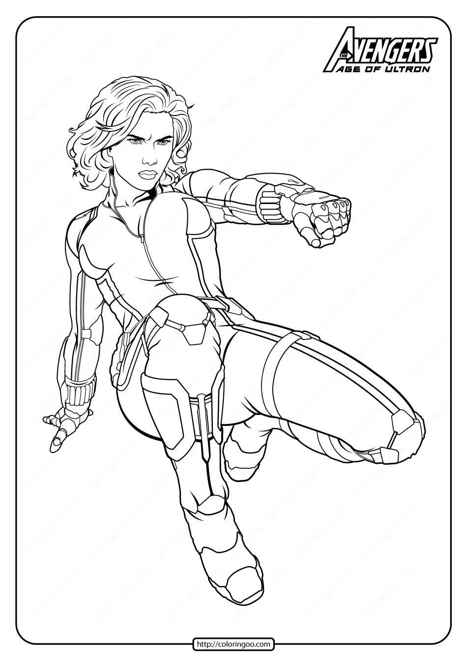 Marvel Avengers Black Widow Pdf Coloring Pages In 2020 Superhero Coloring Pages Avengers Coloring Avengers Coloring Pages