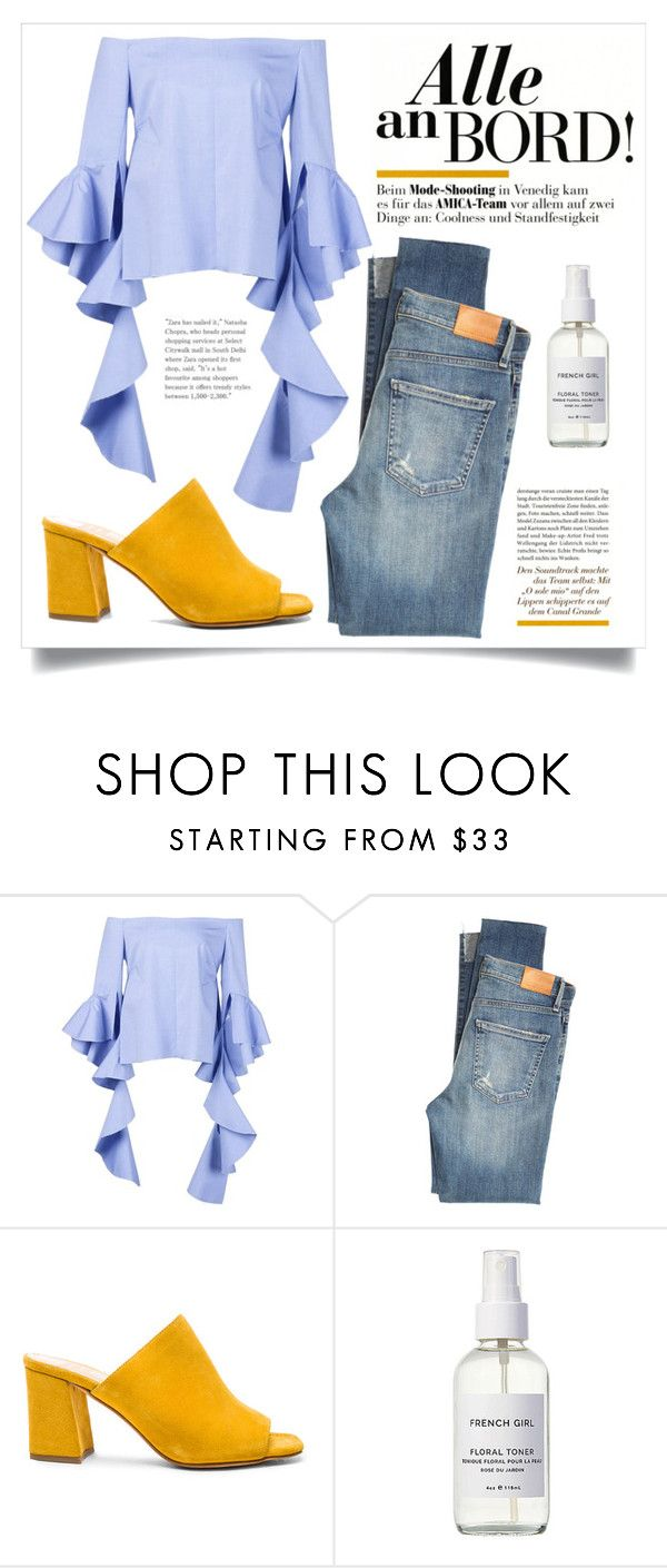 """""""Untitled #445"""" by lily1lol ❤ liked on Polyvore featuring Citizens of Humanity, Maryam Nassir Zadeh and French Girl"""
