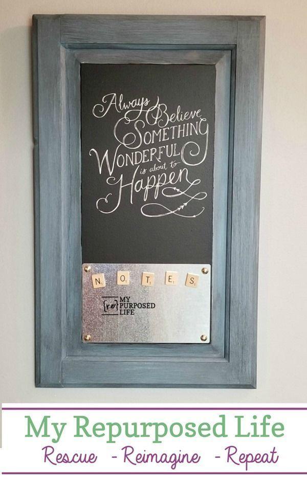 Cabinet Door Chalkboard Magnetic Memo Board Hometalk Funky Junk Adorable Funky Memo Boards