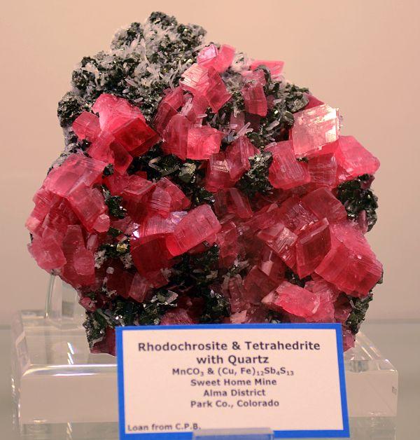 Rhodochrosite And Tetrahedrite With Quartz From Sweet Home Mine Park County Colorado J Gajowniczek Photo