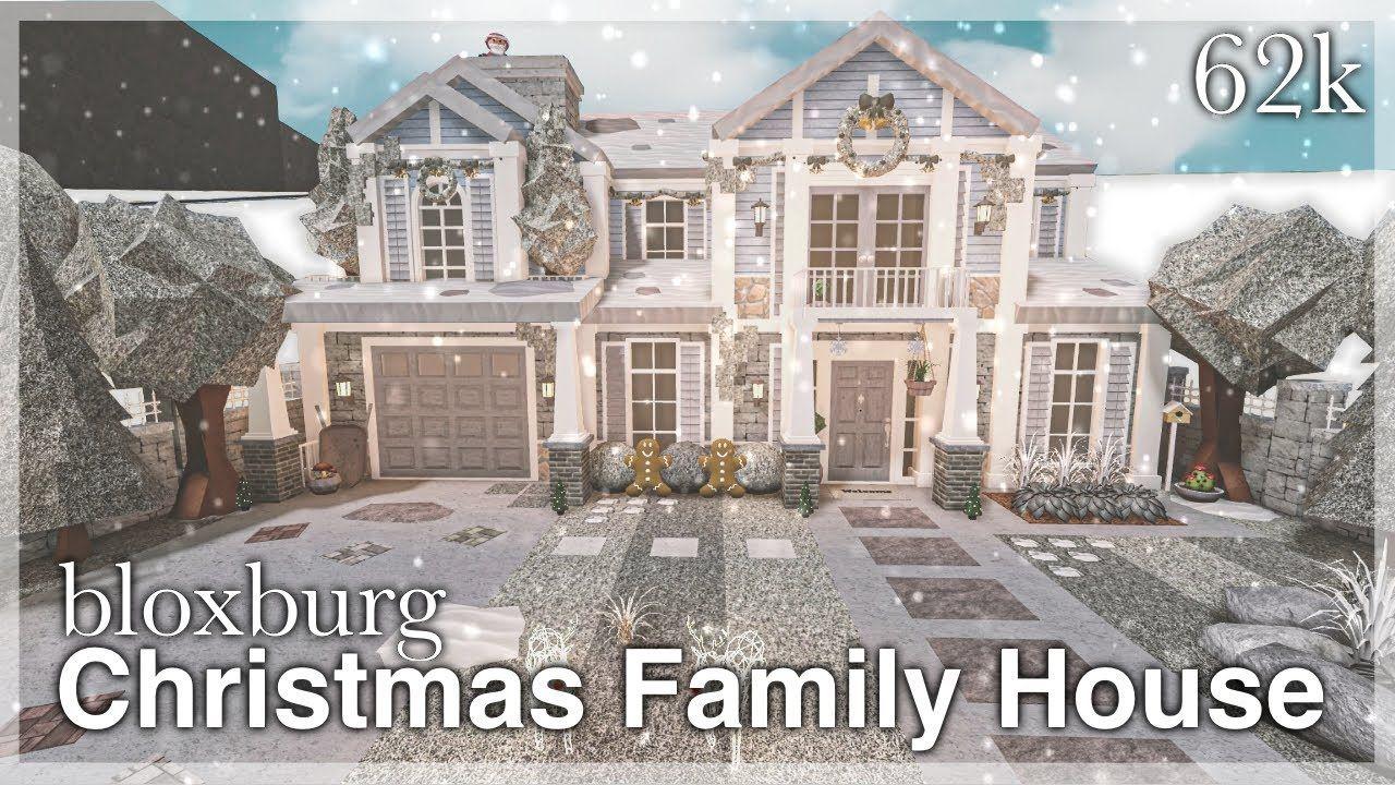Bloxburg   Christmas Family House Speedbuild exterior   YouTube ...