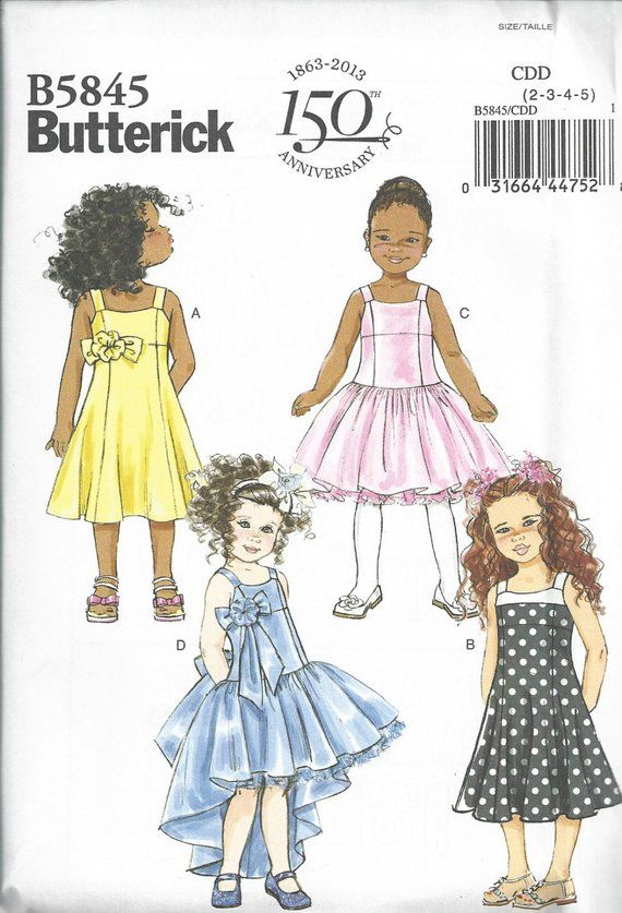 BUTTERICK 4115 OOP GIRLS/' SPECIAL OCCASION DRESS 2-5