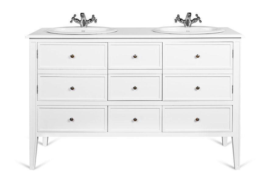 Meuble Double Vasque 140 Cm Edgar En Acajou Blanc Rogier Mothes Furniture Home Decor Decor