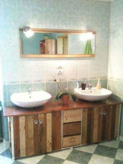 50 fotos e ideas para hacer muebles con pal ts de madera - Ideas con palets de madera ...