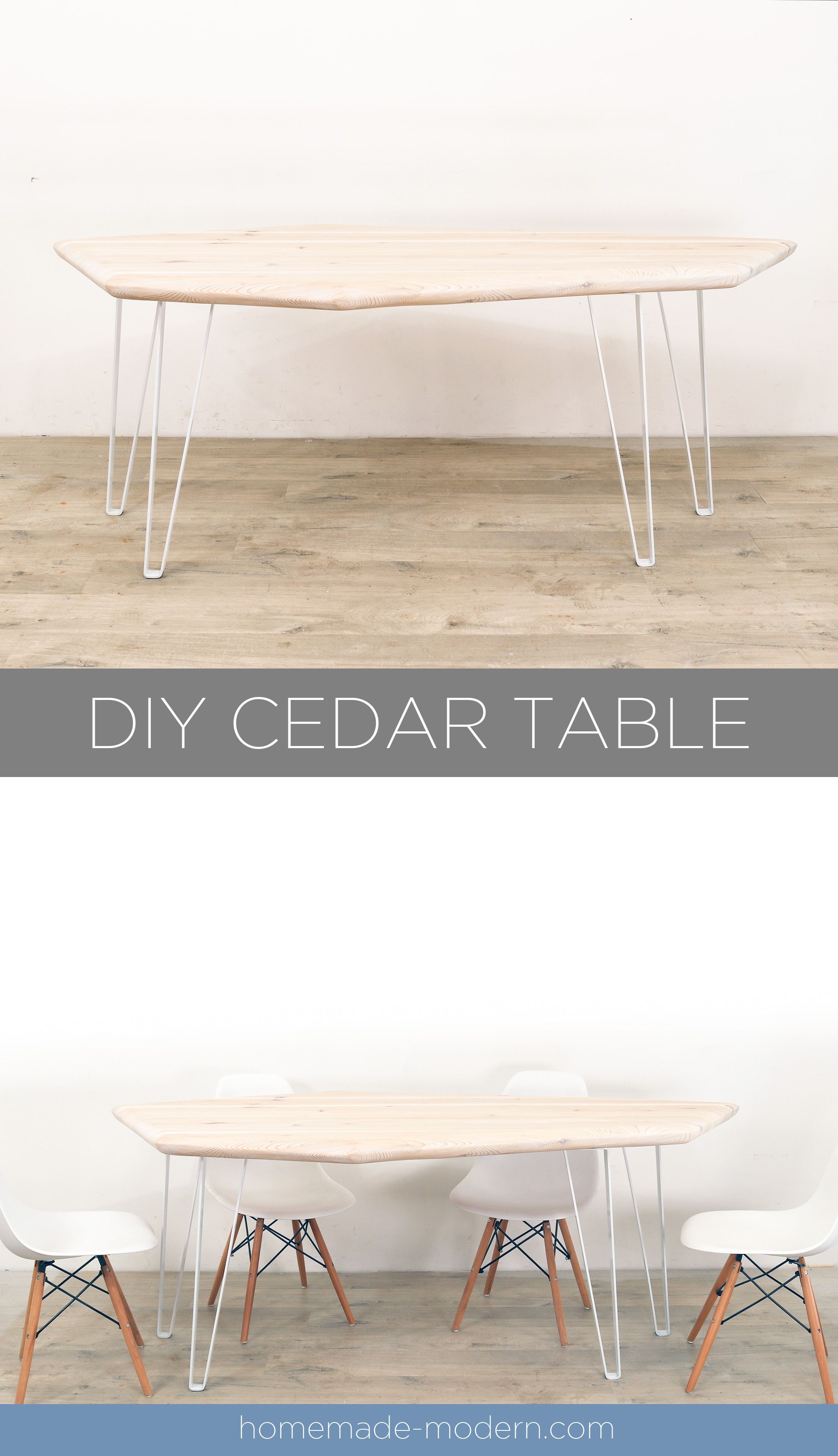 This Modern Geometric Dining Table Was Whitewashed And Made For A Shipping Container House For More Information On This Proj Cedar Table Homemade Modern Table [ 3474 x 2000 Pixel ]